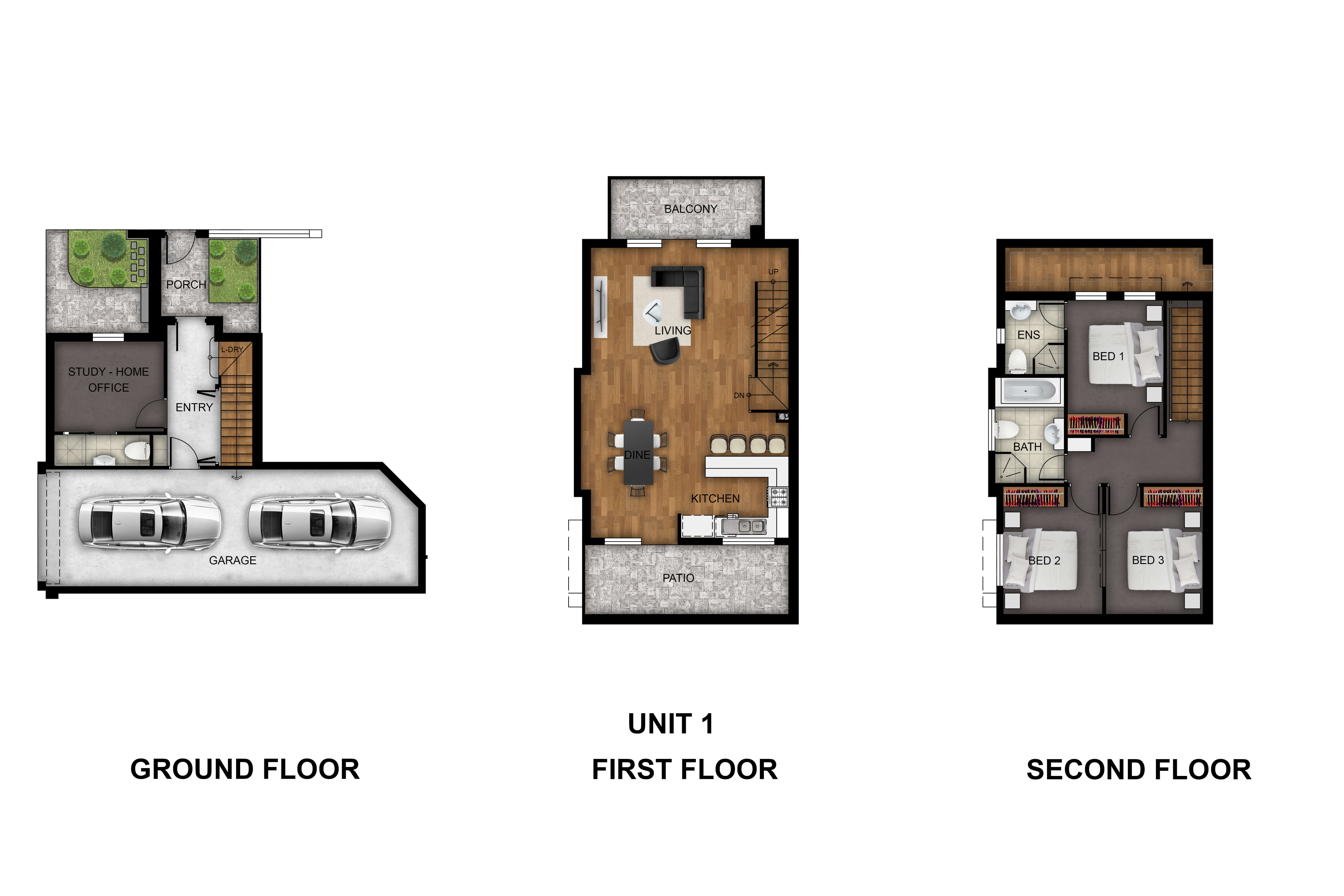 Unit 1 floor plan Prospect