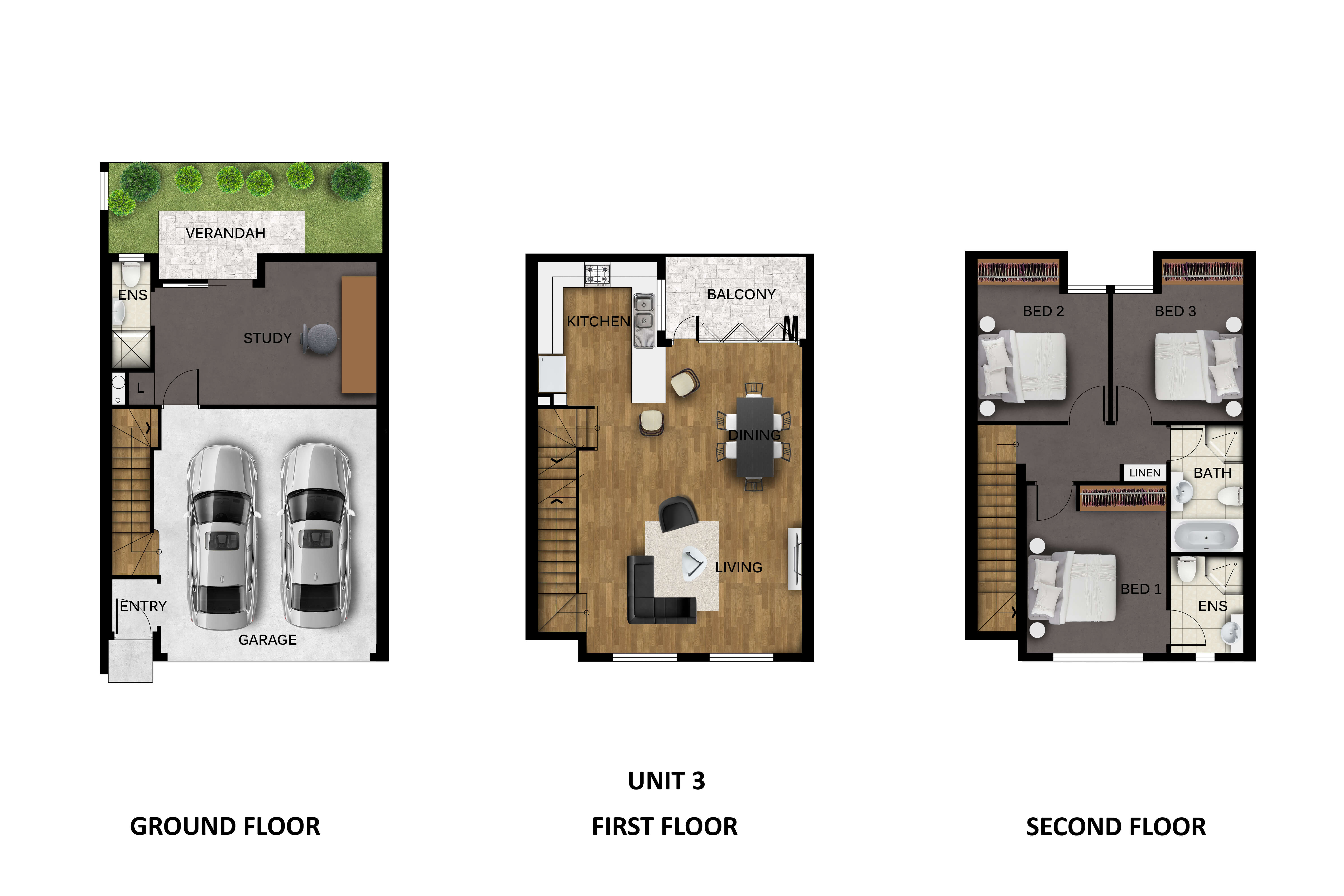 Unit 3 floor plan Prospect