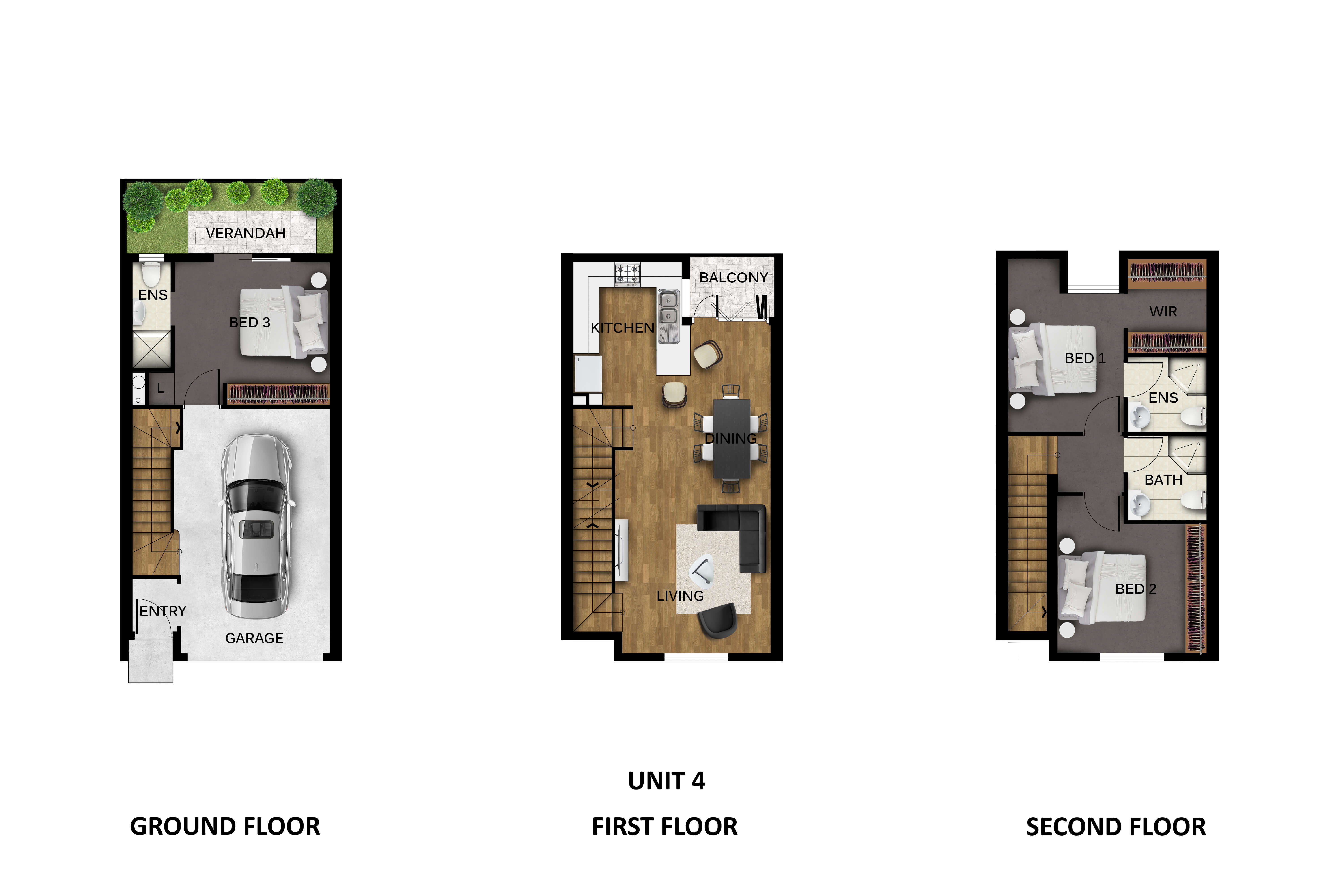 Unit 4 floor plan Prospect