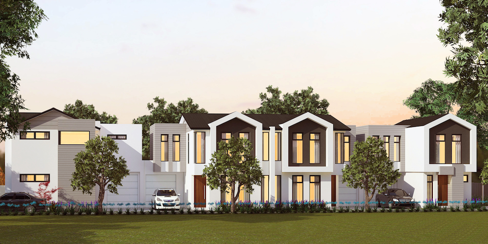 Boutique group of 4 in Rostrevor under construction
