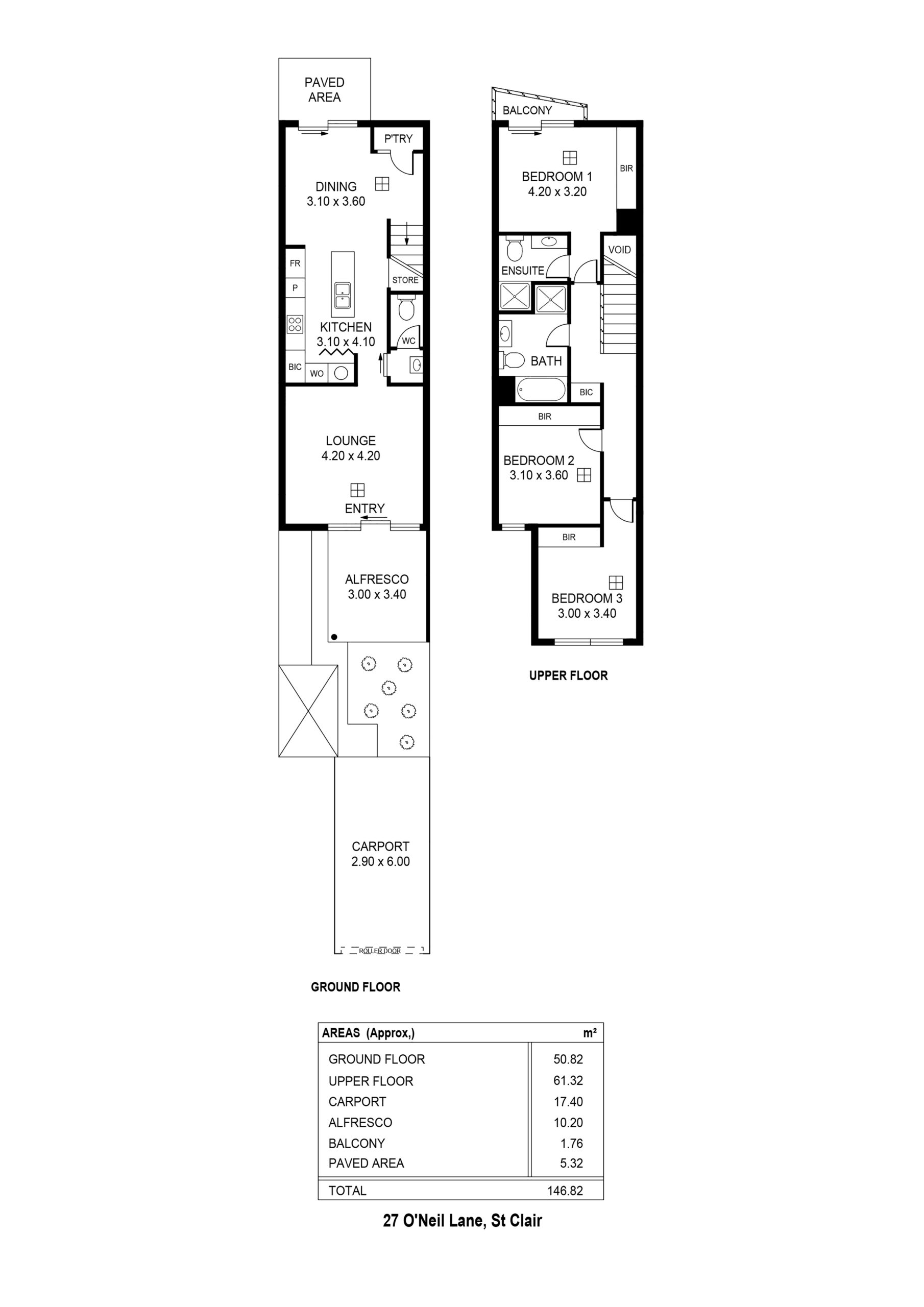 St Clair floor plan