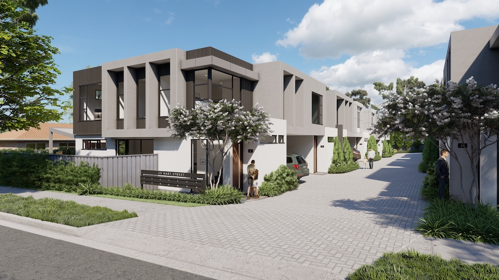 Boutique Group of 14 Townhouses to be built on HART