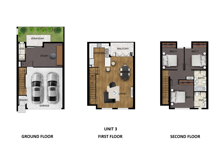 Unit 3 floor plan Prospect